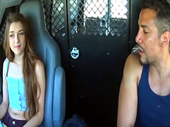 Alex Mae getting slammed rough by a big cocked truck driver!
