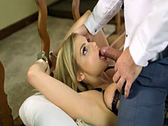 Big natural tits Katy Jayne pussy rammed while handcuffed