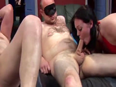 Amateur bitches Cherry and Donna get pussies stretched by many dicks i