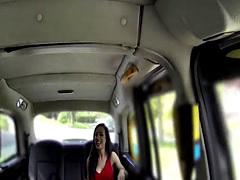 Cab driver fisting petite brunette