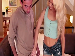Blonde teen Elsa gets her tigh...