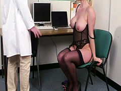 Gorgeous euro milf facialized by the doctor