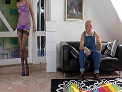 British cougar in stockings fucked deeply
