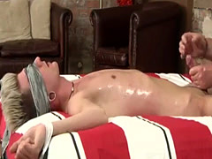 Young cowboy in bondage and guy moans while slowly jerking off gay A H