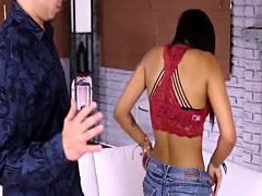 Tiny Latina teen Nikki Kay get...
