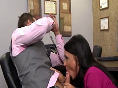 Stunning office MILF pounded by her boss