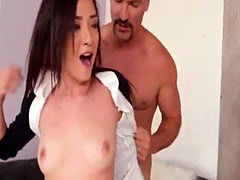Petite Kiley Jay absolutely loves to fuck big cock