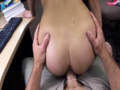 Blonde small tits big ass College Student Banged in my pawn shop!