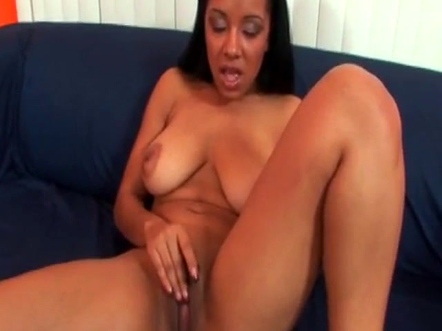 Ebony with huge natural tits takes big pussy creampie from BBC
