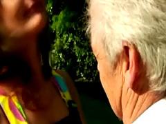 Grandpa gets young head at public park