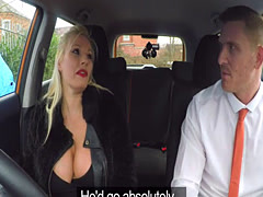 Married examiner fucks monster tits blonde