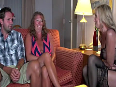 Horny lesbians have an astonishing threesome