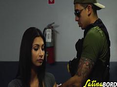 Latina cutie banged by horny cop