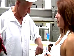 Granddaddy pops some pussy at work