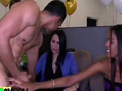 Bachelorette party gropes male dancer meat