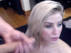 Model wife gets cummed on and she loves it