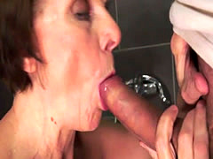 Cock hungry granny with horny boy