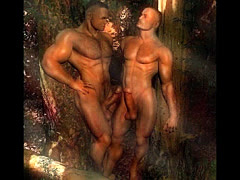 3D Strong Gay Males!