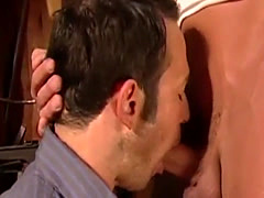 Hot gay lovers having sex