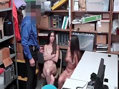 Lucky dude pounding two hot girls