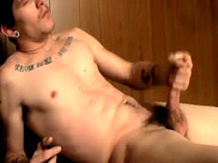 Caught hung jerking off gay Gorgeous Bad Boy Lex Gets Wet