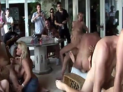 Hot orgy with beautiful horny babes
