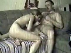 Spy cam catches couple fucking on sofa