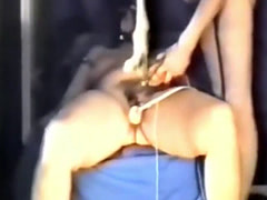 testing the hairy cunt of slave Peggy
