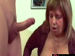 Saggy tits BBW granny prefers thick young cock