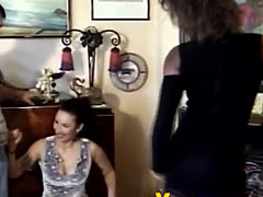 Amazing girl pounded by two friends