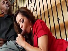 Francesca enjoys a big black cock