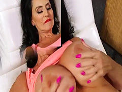 Busty mature masturbates with buttplug