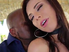 Stunning babe Aidra Fox tries a bbc in her hot pussy