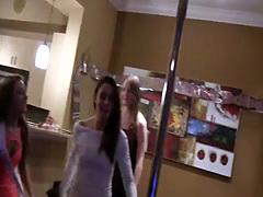 Hot insane teens fucked at a bachelorette party by a friend