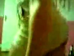 Punk babe upskirt no panties tease on livecam