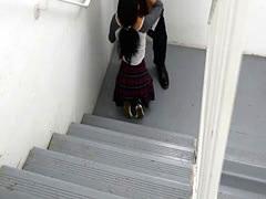 In The Hallway A Slutty Schoolgirl Gets Screwed