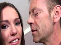 35 - Skinny Brunette Bitch Loves Rough Sex