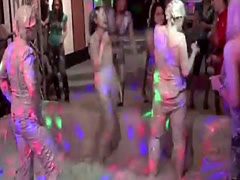 876 Kinky Lesbian Paint Wrestling Fun