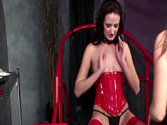 electro stimulation dildos and hot wax while tied up lead to intense o