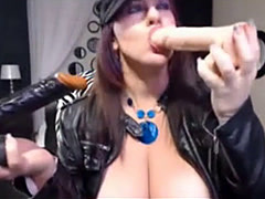 Deepthroat two dildos