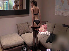 Stockings slut ass banged on cast