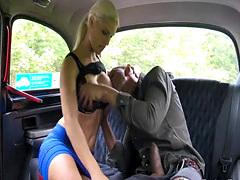 Big black cock flashing for free cab ride