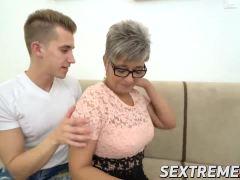Naughty granny Jessye pounded hard