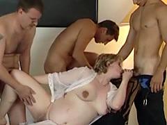 Lucky guys get to bang pregnant babe