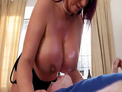 Old mature milf young first time Big Tit Step-Mom Gets a Massage