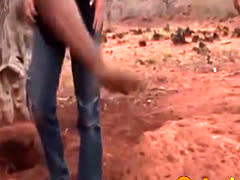 Perv African in a hole to see fucking
