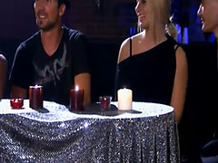Hot babes fire dancing and give massage to horny dudes
