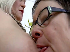 OldNannY Two Busty Meaty Lesbian Milfs Playing