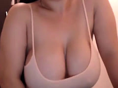 Stimulated Large Saggy Boobs Chick