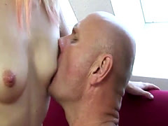 Busty Blonde Satisfy Grandpa